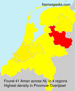 Surname Aman in Netherlands