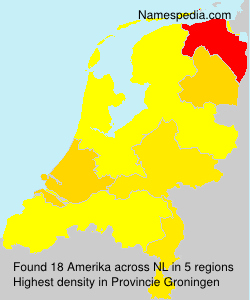 Surname Amerika in Netherlands