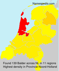 Surname Balder in Netherlands