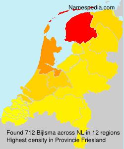 Surname Bijlsma in Netherlands