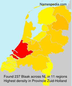 Surname Blaak in Netherlands