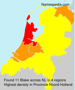 Surname Blake in Netherlands