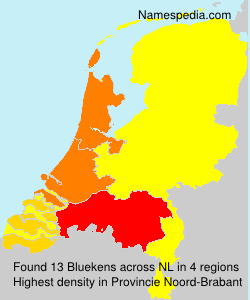 Surname Bluekens in Netherlands