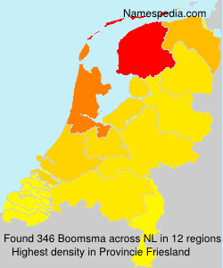 Surname Boomsma in Netherlands