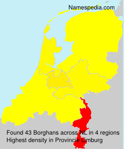Surname Borghans in Netherlands