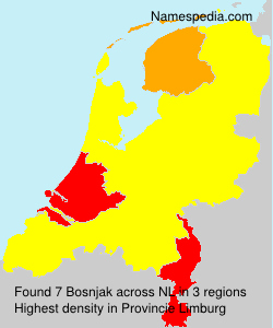 Surname Bosnjak in Netherlands