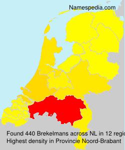 Familiennamen Brekelmans - Netherlands