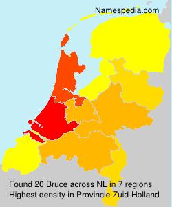 Surname Bruce in Netherlands