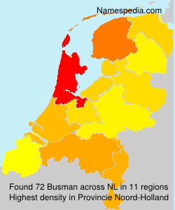 Surname Busman in Netherlands