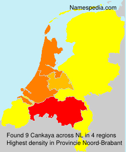 Surname Cankaya in Netherlands