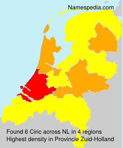 Surname Ciric in Netherlands