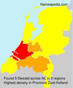 Surname Dewald in Netherlands