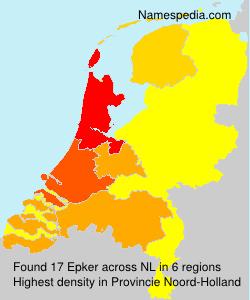 Familiennamen Epker - Netherlands