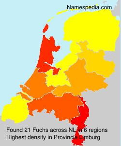 Familiennamen Fuchs - Netherlands