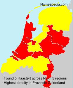 Familiennamen Haastert - Netherlands
