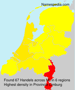 Surname Handels in Netherlands