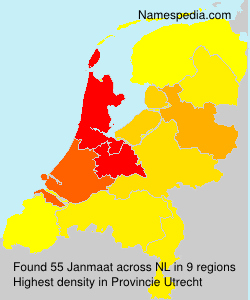 Surname Janmaat in Netherlands