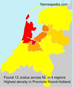 Familiennamen Justus - Netherlands