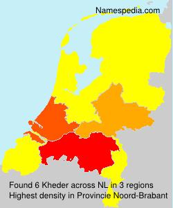 Familiennamen Kheder - Netherlands
