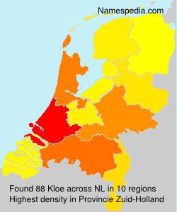 Surname Kloe in Netherlands