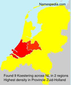 Familiennamen Koestering - Netherlands