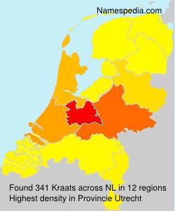 Surname Kraats in Netherlands