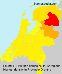 Surname Krikken in Netherlands