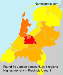 Familiennamen Landen - Netherlands