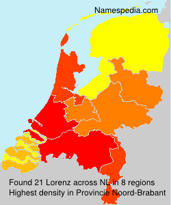 Surname Lorenz in Netherlands