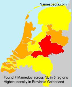 Familiennamen Mamedov - Netherlands