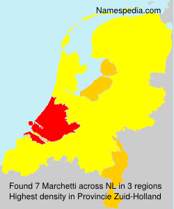 Surname Marchetti in Netherlands