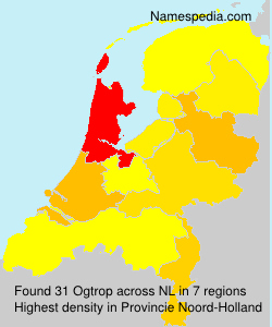 Surname Ogtrop in Netherlands