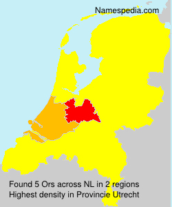 Surname Ors in Netherlands