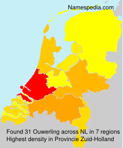 Surname Ouwerling in Netherlands