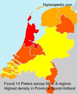 Familiennamen Pieters - Netherlands