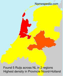 Familiennamen Ruijs - Netherlands