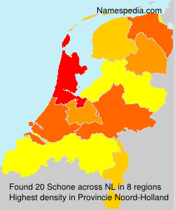 Surname Schone in Netherlands