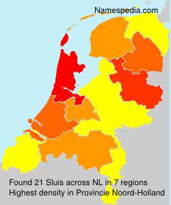 Surname Sluis in Netherlands