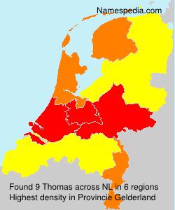 Familiennamen Thomas - Netherlands