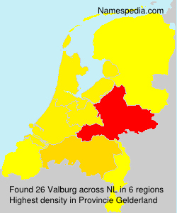 Surname Valburg in Netherlands