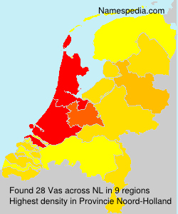 Surname Vas in Netherlands