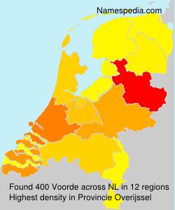 Surname Voorde in Netherlands