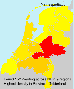 Surname Wenting in Netherlands