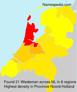 Surname Wiedeman in Netherlands