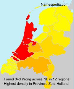 Familiennamen Wong - Netherlands