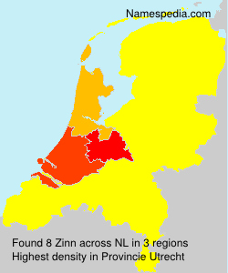 Surname Zinn in Netherlands