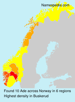 Surname Ade in Norway