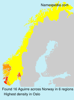 Surname Aguirre in Norway