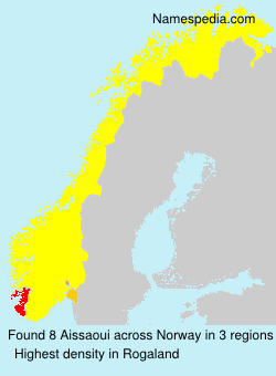 Surname Aissaoui in Norway