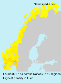 Surname Ali in Norway